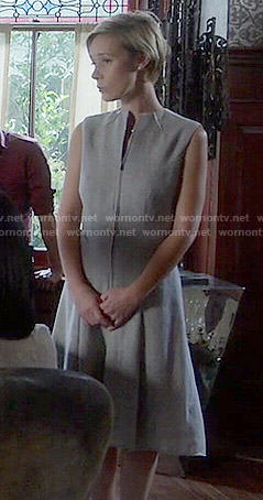 Bonnie's grey zip-front dress on How to Get Away with Murder