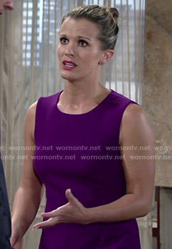 Chelsea's purple dress on The Young and the Restless