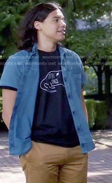 Cisco's black 'Otter Space' t-shirt on The Flash