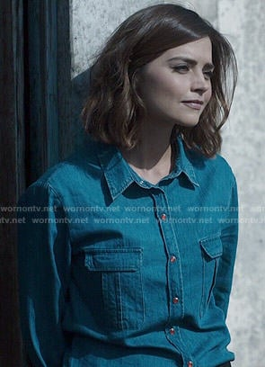 Clara's denim shirt on Doctor Who