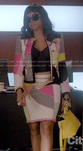 Cookie's colorblock jacket and skirt set on Empire