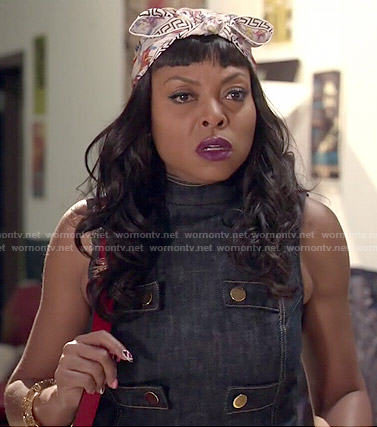 Cookie's denim top and wide leg pants on Empire