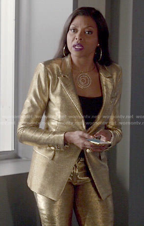 Cookie's gold pant suit on Empire