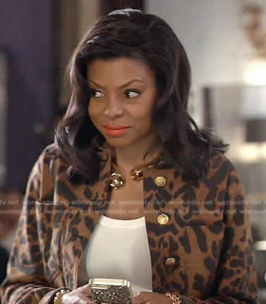 Cookie's cropped leopard print jacket on Empire