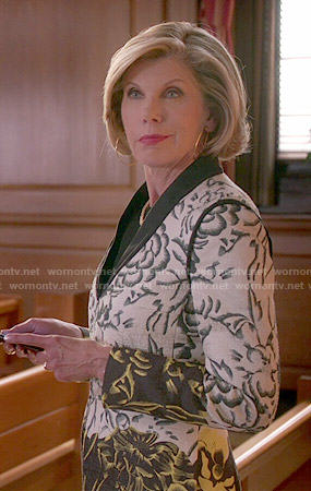 Diane's floral coat on The Good Wife