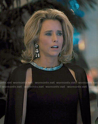 Elizabeth's black caped gown on Madam Secretary