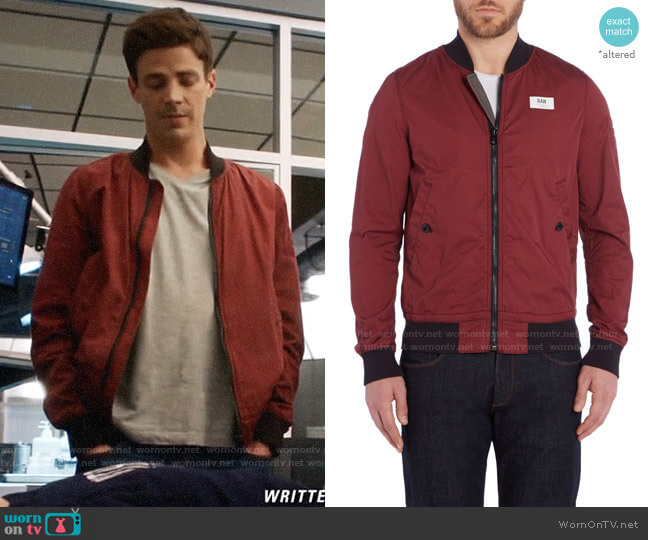 G Star Raw Sham Bomber Jacket worn by Barry Allen (Grant Gustin) on The Flash