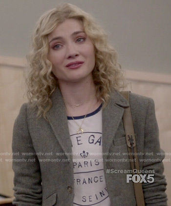 Grace's stamp graphic tee on Scream Queens