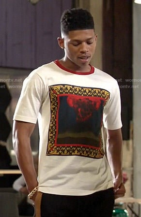 Hakeem's square graphic tee on Empire