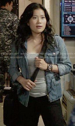 Happy's denim jacket with pockets on Scorpion