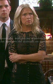 Jennifer's black lace dress on Days of our Lives