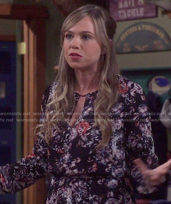 Kristin's floral long sleeve dress on Last Man Standing