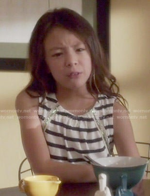 Lily's striped dress on Modern Family
