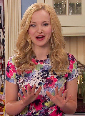 Liv's bright floral top on Liv and Maddie