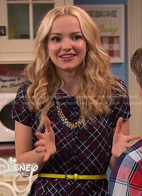 Liv's checked shirtdress on Liv and Maddie