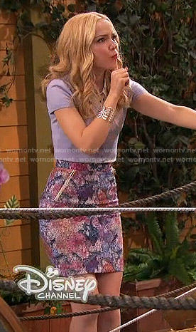 Liv's floral pencil skirt on Liv and Maddie