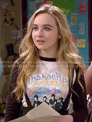 Maya's Beatles tee on Girl Meets World