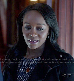 Michaela's tweed dress on How to Get Away with Murder