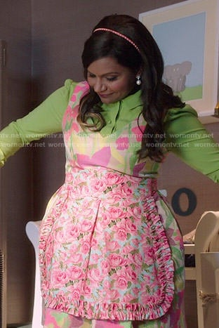 Mindy's multi colored floral dress on The Mindy Project