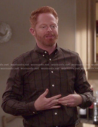 Mitchell's brown checked shirt on Modern Family