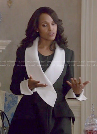 Olivia's black and white coat on Scandal