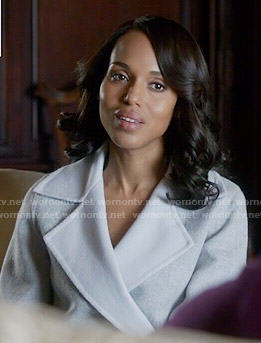 Olivia's grey and white coat on Scandal