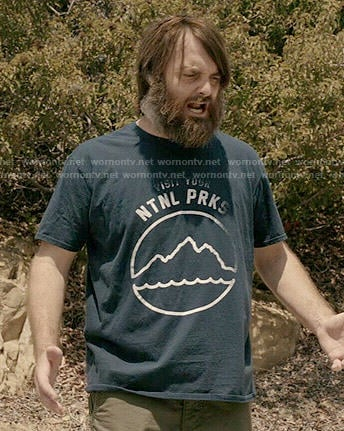 Phil's 'Visit Your Ntnl Prks' t-shirt on Last Man on Earth