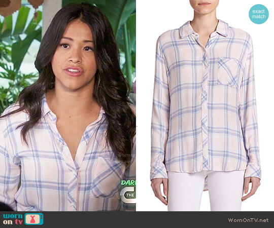 Rails Hunter Shirt in Pink Blue Melange worn by Jane Villanueva (Gina Rodriguez) on Jane the Virgin