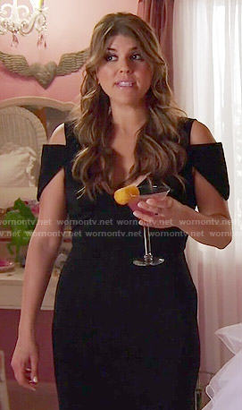 Sadie's black cold-shoulder prom dress on Awkward