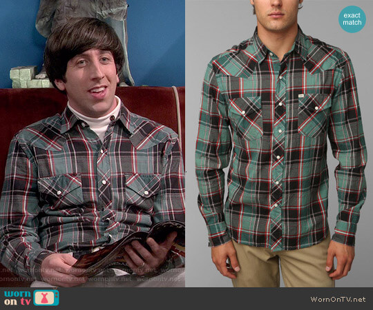 Urban Outfitters Cassidy Western Shirt by Salt Valley worn by Howard Wolowitz (Simon Helberg) on The Big Bang Theory