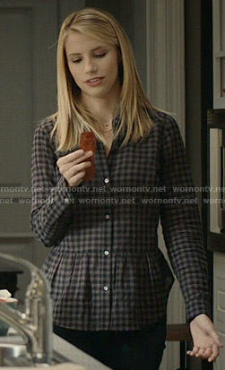 Stevie's checked peplum shirt on Madam Secretary