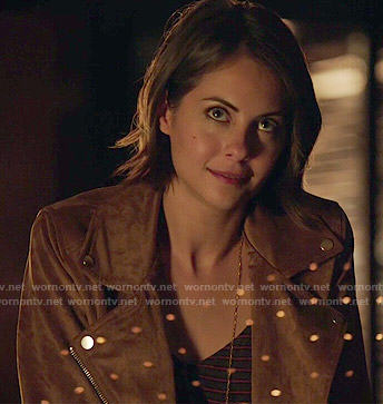 Thea's tan suede jacket on Arrow