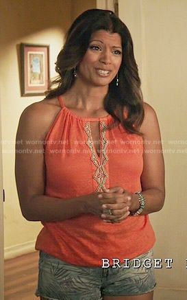 Xiomara's orange beaded top on Jane the Virgin