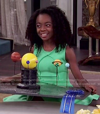 Zuri's green dress on Jessie