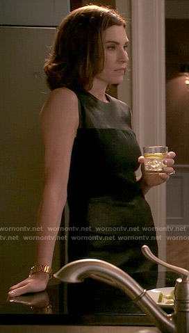 Alicia's leather panel dress on The Good Wife