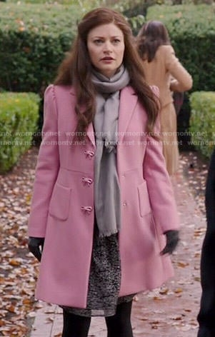 Belle's pink coat with bow buttons on Once Upon a Time
