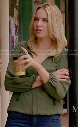 Camille's green blouse on The Originals