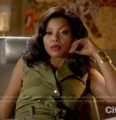 Cookie's green moto dress on Empire