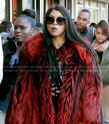 Cookie's red fur coat on Empire