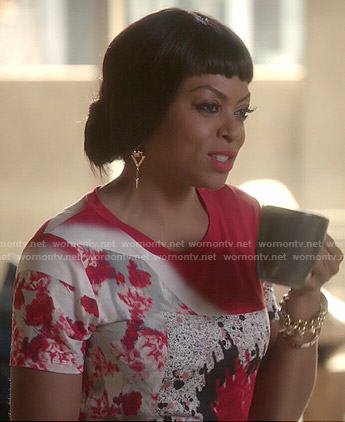 Cookie's red abstract print tee on Empire