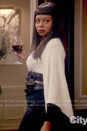 Cookie's white bell-sleeve blouse on Empire