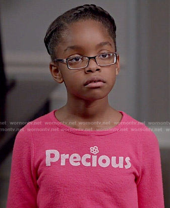 Diane's pink 'Precious' top on Black-ish