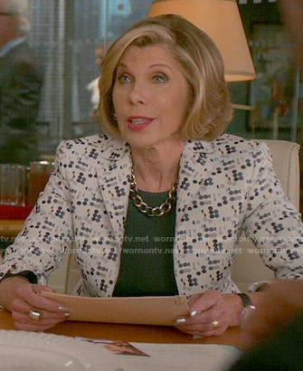 Diane's polka dot jacket on The Good Wife