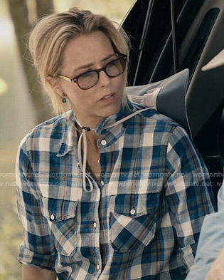 Elizabeth's plaid shirt on Madam Secretary