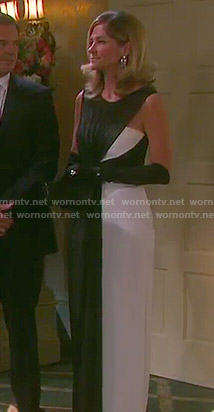 Eve's black and white mesh gown on Days of our Lives