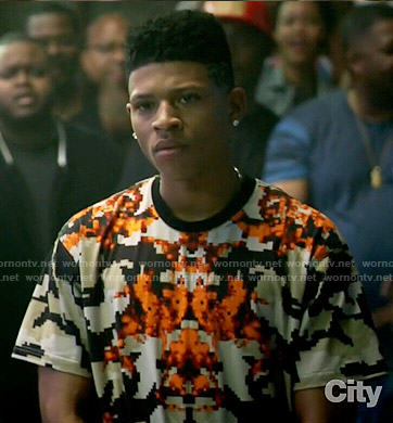 Hakeem's pixelated print t-shirt on Empire