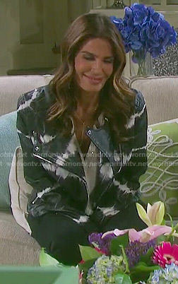 Hope's tie dye leather jacket on Days of our Lives