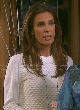 Hope's white textured sweater on Days of our Lives