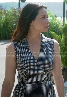 Joan's checked asymmetric shirtdress on Elementary