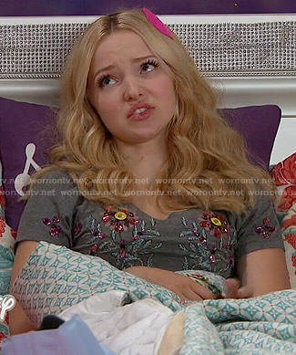 Liv's grey embellished top on Liv and Maddie